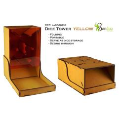 Dice Tower - Yellow, Folding