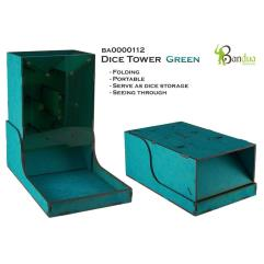 Dice Tower - Green, Folding