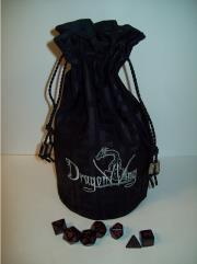 Black w/Silver Cloth Dice Bag (Large)