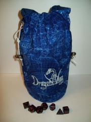 Blue w/Silver Cloth Dice Bag (Large)