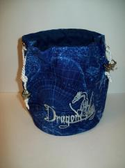 Blue w/White Cloth Dice Bag (Small)