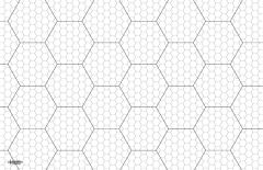 "Double-Sided Hex Paper - 11"" x 17"""