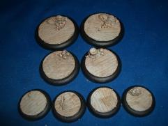 40mm Round - Wooden Plank