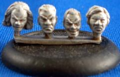 28mm Male Heads