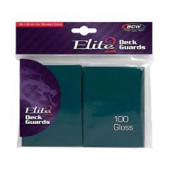 Elite 2 Gloss Card Sleeves - Teal (100)