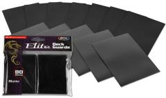 Elite Matte Card Sleeves - Black (80)