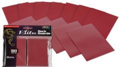 Elite Matte Card Sleeves - Red (80)