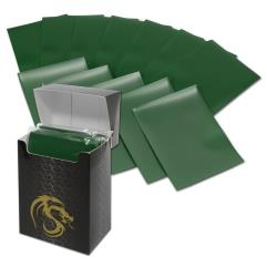 Double Matte Card Sleeves - Green (80)
