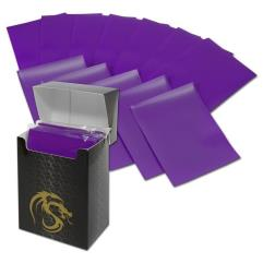 Double Matte Card Sleeves - Purple (80)