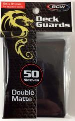 Double Matte Card Sleeves - Black (10 packs of 50)