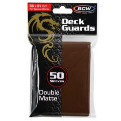 Double Matte Card Sleeves - Brown (50)