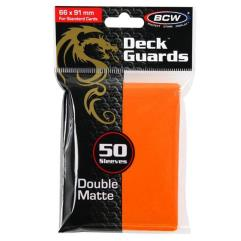 Double Matte Card Sleeves - Orange (50)