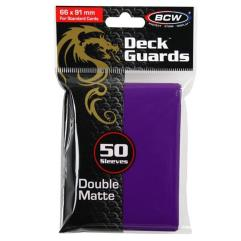 Double Matte Card Sleeves - Purple (50)