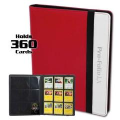 Pro-Folio 9-Pocket LX Album - Red and White