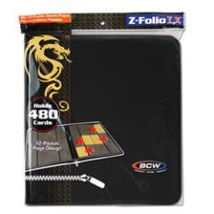 Z-Folio 12-Pocket LX Album - Black