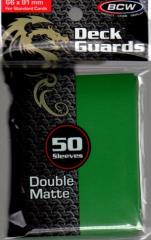 Double Matte Card Sleeves - Green (50)