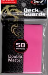Double Matte Card Sleeves - Pink (50)