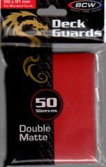 Double Matte Card Sleeves - Red (50)