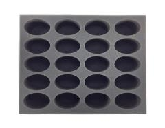 "3"" Army Tray - 20 Space Marine Bike Foam Tray"