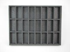 "1 1/2"" Army Tray - 24 Command/Banner Foam Tray"