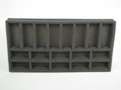 "1 1/2"" Flames of War 10 Small & 8 Medium Tank Foam Tray"