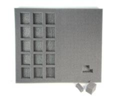 "1 1/2"" Hybrid Pluck Foam Tray - Larger Troop"