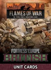 Fortress Europe - British Unit Cards