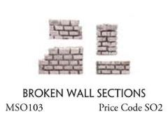Broken Wall Sections