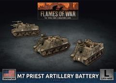 M7 Priest Artillery Battery