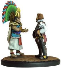 Spanish Conquistadors - Montezuma and Cortes