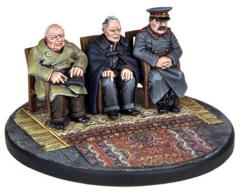 Conference at Yalta - Roosevelt, Churchill & Stalin