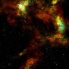 """Orange Nebula (48"""" x 48"""")"""