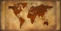 "World Map (24"" x 48)"
