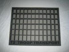 "1"" 72 Troop Tray"