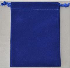 """Dice Bag - Velvet, Blue (4"""" x 5"""")"""