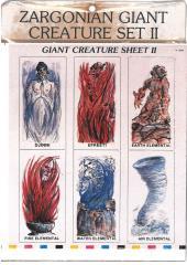 Giant Creatures Set #2 - Elementals