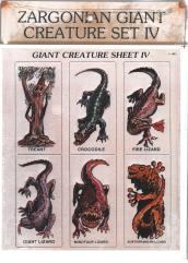 Giant Creatures Set #4 - Treant & Reptiles