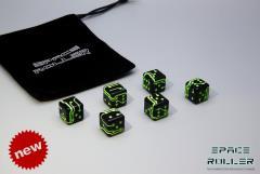Black w/Green Grooves (6)