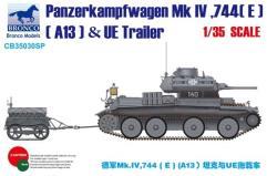 German Panzerkampfwagen Mk.IV 774€ (A13) Tank & UE Trailer