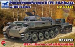 Panzerkampfwagen II (F1) Sd.Kfz.122 w/UE Trailer