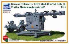 German Telemeter KDO Mod.40 w/Sd.Anh 52 Trailer
