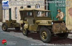 U.S. GPW 1/4 Ton 4x4 Light Utility Truck (Mod. 1942) w/37mm Anti-Tank Gun M3A1