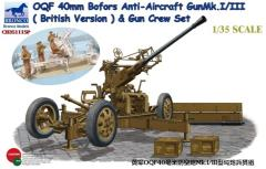 OQF 40mm Bofors Anti-Aircraft Gun Mk.I/III (British Version) w/Crew