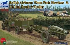 British Airborne 75mm Pack Howitzer & 1/4 Ton Truck w/Trailer