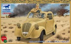 Italian Light Staff Car (Open Top) w/Crew - Libya
