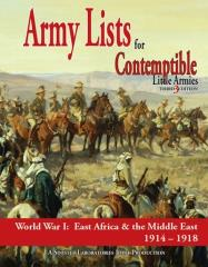Army Lists #2 - East Africa & The Middle East, 1914-1918 (3rd Edition)