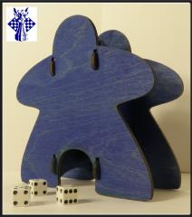 Knockdown Dice Tower - Meeple - Blue