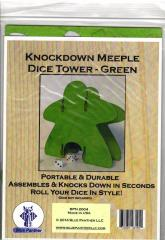 Knockdown Dice Tower - Meeple - Green