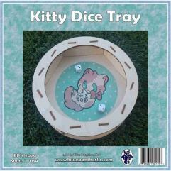 Circular Dice Tray - Kitty