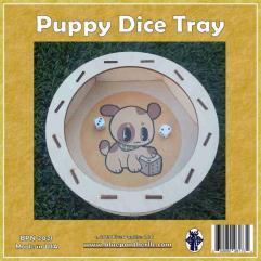 Circular Dice Tray - Puppy